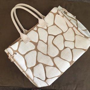 Nordstrom Burlap Shopping Bag.